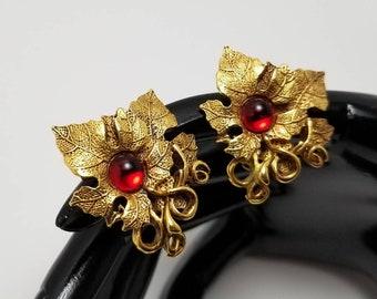 Oscar De La Renta Red Cab Earrings