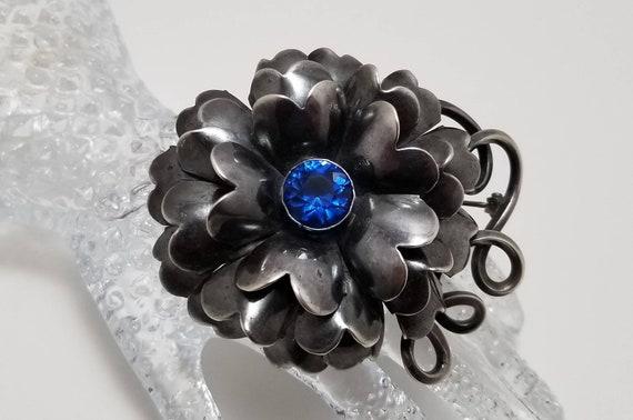 HOBE Sterling Flower Brooch