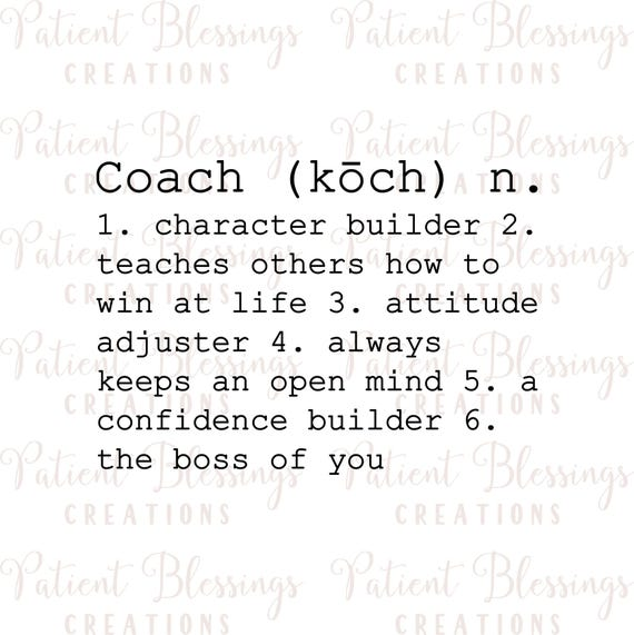 Coach Definition SVG DXF Pdf EPS Jpeg Silhouette Cricut