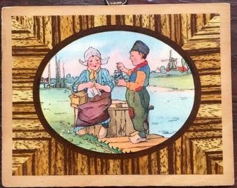 Small Vintage Dutch Plaque / Picture