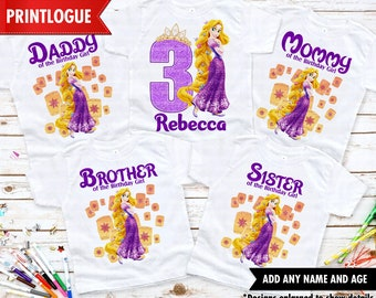 Tangled Birthday Shirt, Rapunzel Family Shirt, Princess Rapunzel Family Birthday shirt, Rapunzel Birthday Shirt, Tangled Birthday Girl