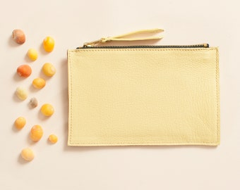 Mini pouch Cancale - yellow & old pink