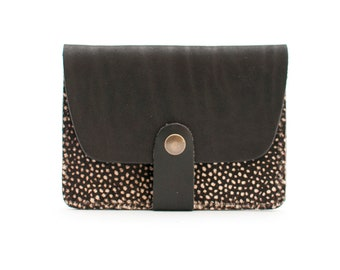 Cardholder Trégana - black and spotted hair