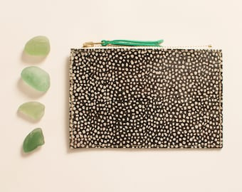 Mini pouch Cancale - speckled & spring green hair
