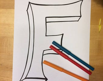 Letter F Coloring