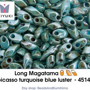 rose gold luster Long Magatama 10 gram 301