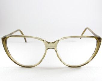 Luxury Eyewear, Vintage Cat Eye, Greonsystem, Birthday Gift, Transparent Sunglasses, 70s, Cat Eye Sunglasses, Deadstock Eyeglasses, Cateye