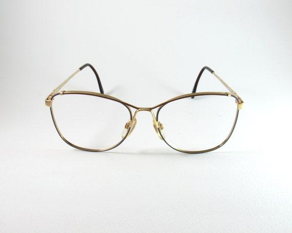 Metal Eyeglasses Frames Lozza Modtiffany 70s Vintage Etsy