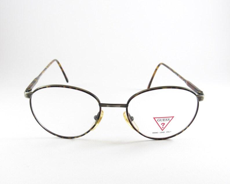 fa441ef353a Vintage Eyeglasses Guess Round Eyeglasses Men s Glasses