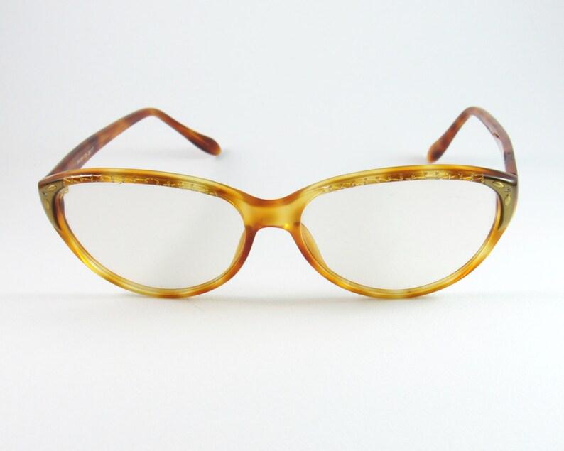 8ae1f0b3e0 Vintage Eyeglasses Linea Pitti Florencia diseño gato gafas   Etsy