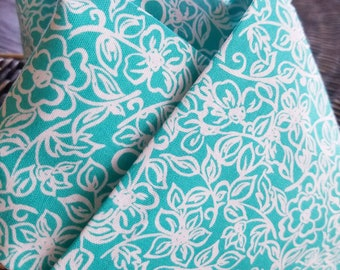 Teal floral Equestrian Stock Tie