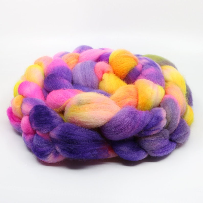 Lisa 29.5 Micron Soft Fiber for Spinning Socks Spinning Fiber Corriedale Hand Dyed Combed Top Frankly Wool Roving Roving