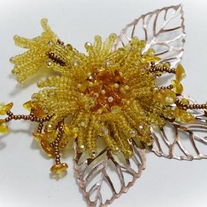 Holiday jewelry. Jewelry Dress brooch Beaded brooch Lizard Pin gift