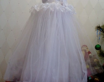 White long Flower Girl Dress_For Weddings Birthday Pageants and Portraits_Special Occasion Dress