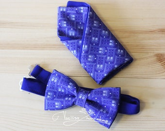 Set TARDIS bow tie and handkerchief star wars - bow tie Bow tie