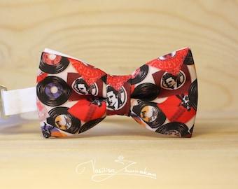 Elvis Presley retro vinyl record bow tie - bowtie
