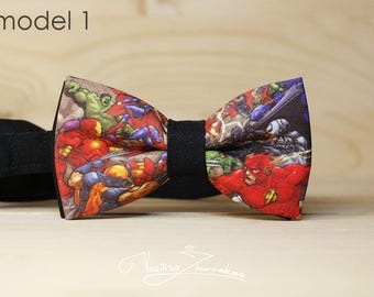 Marvel 2 DC comics Bow tie - Bowtie marvel comics