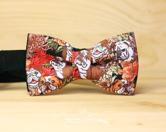 Bow tie - Bowtie Bulldogs and flowers