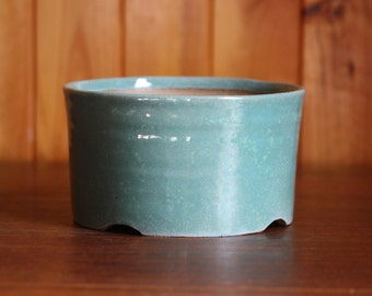 Duck egg blue planter pot