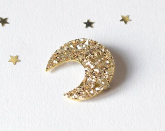 PIN with glitter number shapes/colors available