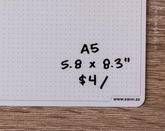"A5 (5.8x8.3"") single Swipie"