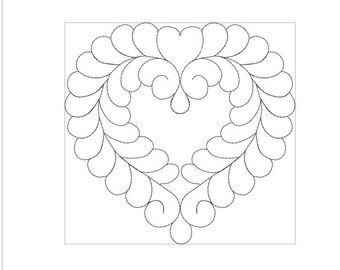HEART STIPPLING machine embroidery download 4 diff sizes (4X4   5X5  6X6 7X7  )