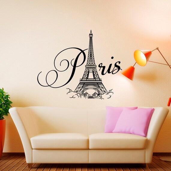 Parijs muur sticker Vinyl belettering-Parijs slaapkamer | Etsy