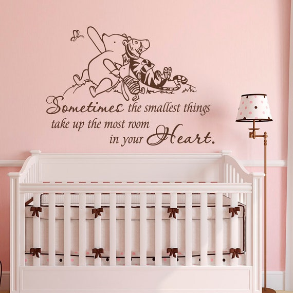 Sometimes the smallest Things Winnie the Pooh Quote Winnie The Pooh Wall decal