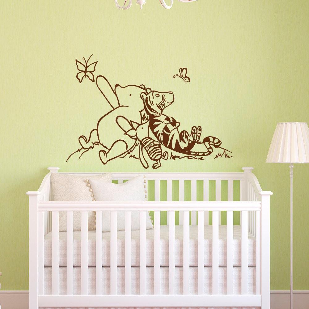 Wall Decal Winnie The Pooh Nursery Decor Classic Winnie The | Etsy
