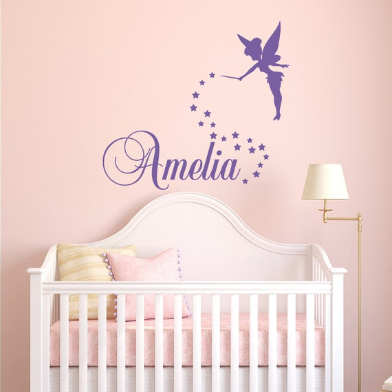 Madchen Namen Wall Decal Fee Wandtattoo Personalisierte Etsy