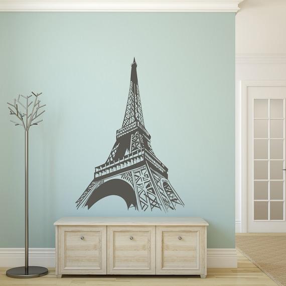 Eiffel Tower Wall Sticker - Paris Wall Art Decor, Paris Wall Decal, Paris  Bedroom Decor for Girls, Paris Themed Gifts, Modern Wall Decor 174