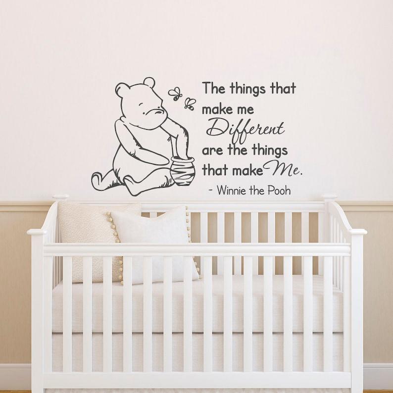 Winnie The Pooh Wandtattoo Zitat der Dinge die mich | Etsy