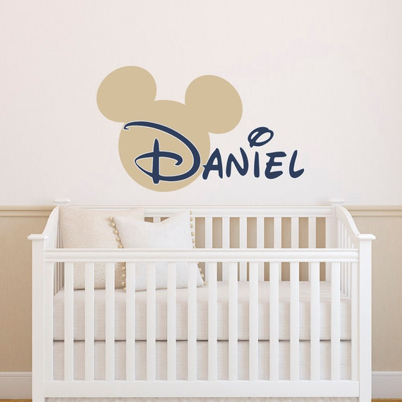 Boy Name Wall Decal Mickey Mouse Wall Decals Wall Decals | Etsy