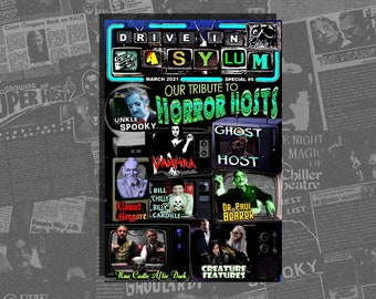 DRIVE-IN ASYLUM -- Special #5 -- Our Tribute To Horror Hosts!!