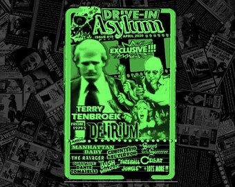 DRIVE-IN ASYLUM -- Issue #19 -- April 2020 -- Dante Tomaselli, Terry TenBroek, Thriller, Manhattan Baby, Cellat, vintage ads and lots more!