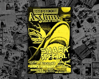 DRIVE-IN ASYLUM - Special #4 - August 2019 - Summer Shark Special! - Jaws - Great White - Tintorera - Monster Shark - and more!!