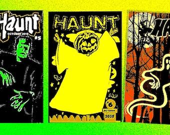 HAUNT triple pack - #7, #6 and #5 - Halloween fanzine