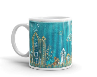 Atlantis Art Mug * Intuitive Art Print Coffee Cup