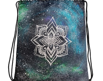 Galaxy Mandala Drawstring bag * Freehand Art Print