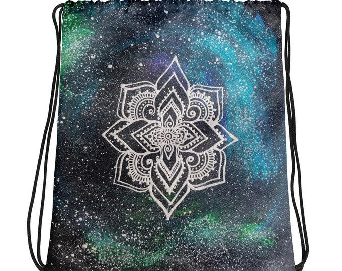 Galaxy Mandala Drawstring bag * Freehand Art Print