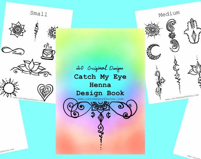 Henna Design Digital eBook | 20 Original Freehand Mandala & Henna Designs | Learn Natural Henna Body Art | Catch My Eye Printable Book
