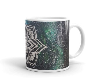 Galaxy Mandala Mug * Intuitive Intention Mandala Coffee Cup