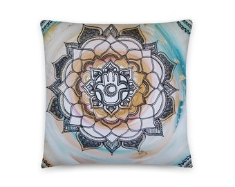 Luna Anastasia Mandala Art Print Pillow