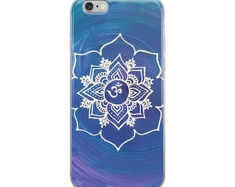 Crown Chakra Intention Mandala iPhone Case | Reiki Energy Artwork Print | Intuitive Freehand Artist | 7th Chakra