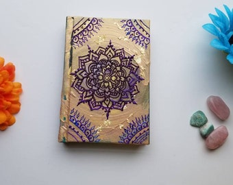 "Gratitude & Success Intention Mandala Sketchbook | Intentionally Sketchy Collection | Hand Painted 4x6"" 110 pg Intention Journal 