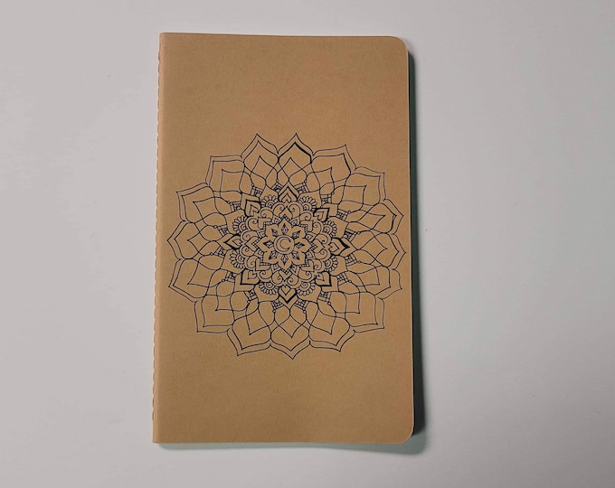 Crystal Memory Mandala | 80 page Blank Moleskine Journal | 5x8 1/4"