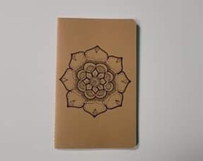 Crystal Blossom Mandala | 80 page Lined Moleskine Journal | 5x8 1/4"