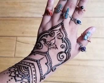 CUSTOM Reiki Crystal Rings | Handmade Wire Wrapped Copper Ring with Stone Bead | amethyst sodalite rose quartz adventurine aquamarine aura