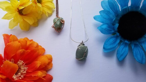 Green Aventurine Crystal Necklace | Heart Chakra| Love | Emotional Protection| Hand Wrapped and Reiki Blessed Jewelry