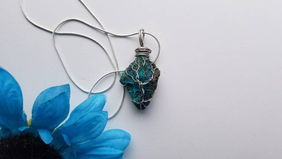 Chrysocolla Tree of Life Necklace | Dream From a Tree Collection | Reiki Handmade Jewelry Gift
